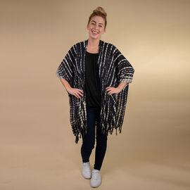 TAMSY 100% Rayon Printed Kimono, One Size ( Fits 8-20 ) - Stone