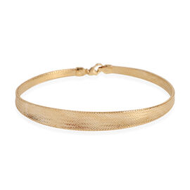 Auction of the Month - ILIANA 18K Yellow Gold Graduated Omega Bracelet Size 7.5 Inch
