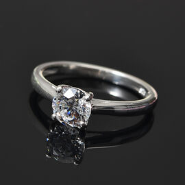 J Francis Sterling Silver Ring Made with SWAROVSKI ZIRCONIA 1.49 Ct
