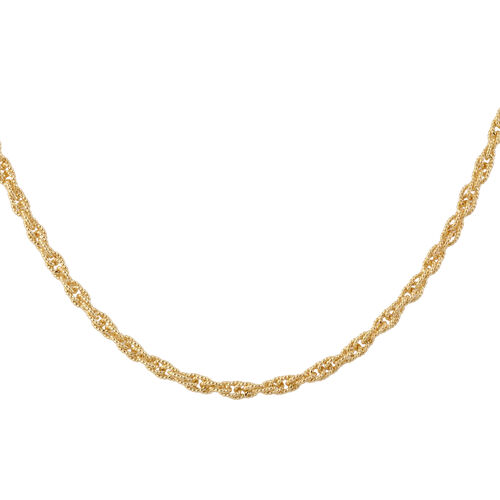 Made in Italy - 14K Gold Overlay Sterling Silver Prince of Wales Chain (Size 18), Silver wt 19.36 Gm