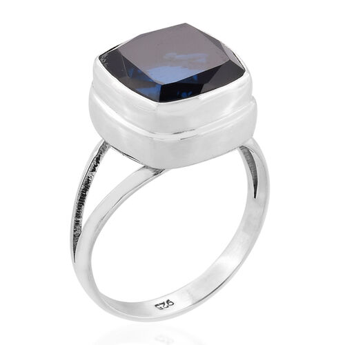 Royal Bali Collection Ceylon Color Quartz (Cush) Solitaire Ring in Sterling Silver 7.975 Ct.