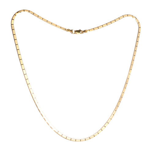 Yellow Gold Overlay Sterling Silver Omega Chain (Size 18), Silver wt 3.80 Gms