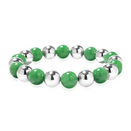 Green Jade and Hematite Beads Bracelet 226.00 Ct.