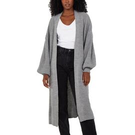 Nova Of London Edge To Edge Knitted Long Cardigan - Light Grey
