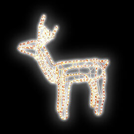 9m Moving Standing Reindeer Rope Light - Warm White