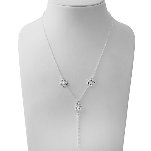 Designer Inspired- Sterling Silver Necklace (Size 20), Silver wt 7.19 Gms.