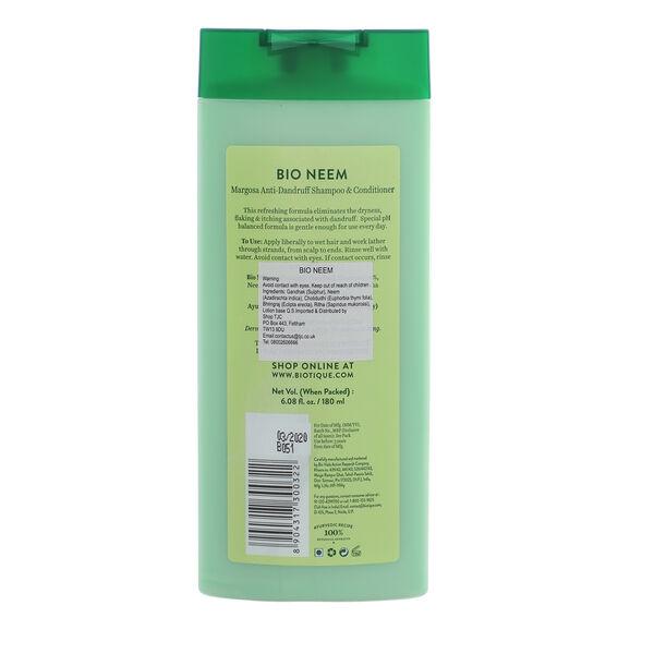 Biotique Bio Neem 100% Ayurvedic Margosa Anti-Dandruff Shampoo & Conditioner 180ml