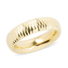 Diamond Cut Band Ring in 9K Yellow Gold 2.10 Grams