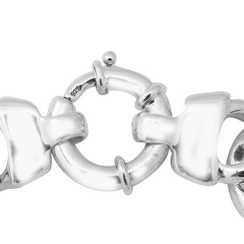 Thai Sterling Silver Bracelet (Size 7.5) with Senorita Clasp, Silver wt 22.26 Gms.