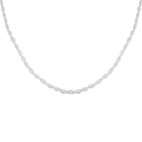 Made in Italy - Sterling Silver Twist Curb Chain (Size 18), Silver wt 7.90 Gms