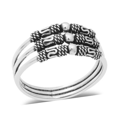 Three Strand Ring in Sterling Silver 4.25 Grams