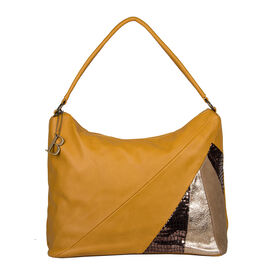 Bulaggi Collection- Flora Hobo Shoulder Bag (Size 36x30x16 Cm) - Mustard