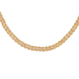 Vicenza Collection 9K Yellow Gold Double Row Rope Necklace (Size 18) with Lobster Clasp, Gold wt 4.4