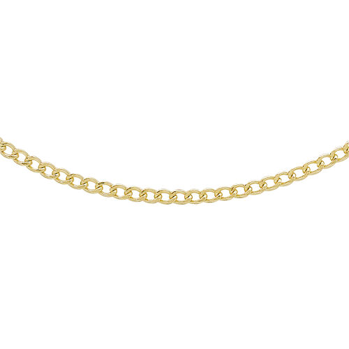 Hatton Garden Close Out- 9K Yellow Gold Curb Necklace (Size 20)