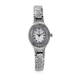 Royal Bali Collection EON 1962 Swiss Movement Water Resistant Watch (Size 8) in Sterling Silver, Sil