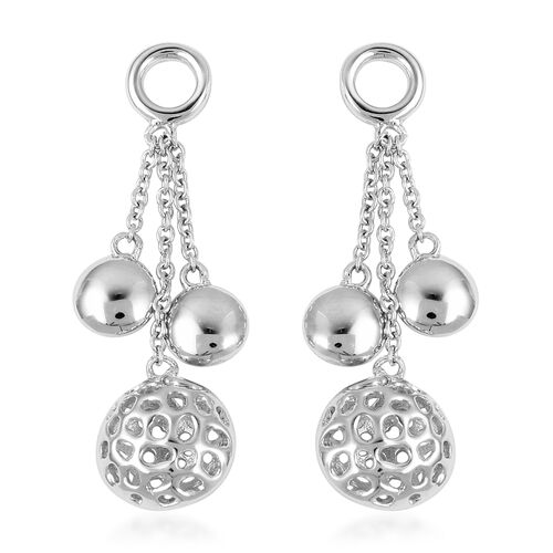 RACHEL GALLEY Rhodium Overlay Sterling Silver Dangle Earrings (with Push Back), Silver wt 6.92 Gms.