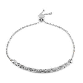 Sterling Silver Adjustable Bracelet (Size 6.5-7.5)