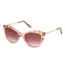 SWAROVSKI Pink Womens Cat Eye with Engrave Design And Metal Temples