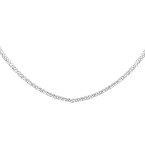 JCK Vegas Collection RHAPSODY 950 Platinum Spiga Necklace (Size 20), Platinum wt. 4.30 Gms.