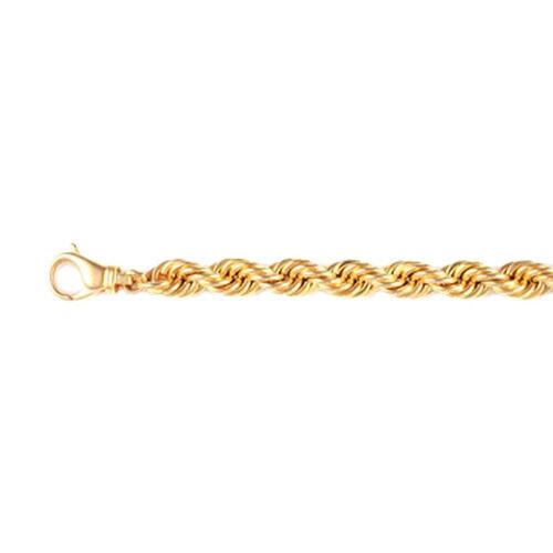 9K Yellow Gold Rope Bracelet (Size 8), Gold wt 14.47 Gms.