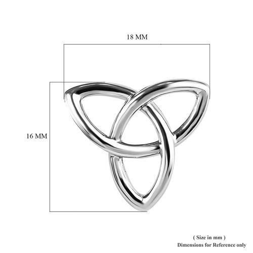 RHAPSODY 950 Platinum Trinity Knot Earrings (with Screw Back) Platinum Weight 6.00 Grams