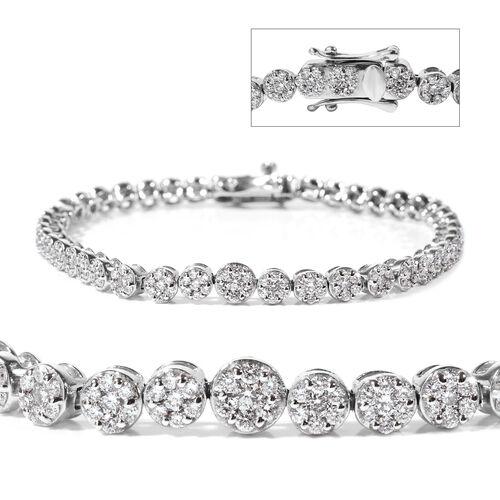 RHAPSODY 950 Platinum IGI Certified Diamond (Rnd) (VS/E-F) Bracelet (Size 7.25) 3.00 Ct, Platinum wt 21.10 Gms