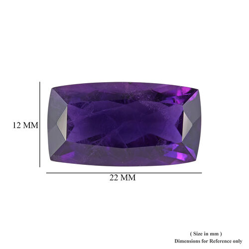 AAA African Amethyst Cushion 22x12 Faceted 15.80 Cts