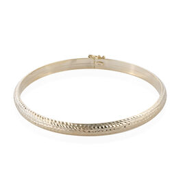Royal Bali Collection- 9K Yellow Gold Diamond Cut Bangle (Size 7.5), Gold wt 5.21 Gms