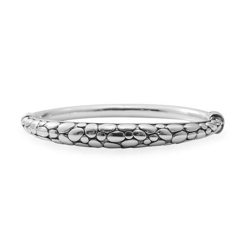 Designer Inspired- High Polished Sterling Silver Bangle (Size 7), Silver wt 12.71 Gms.