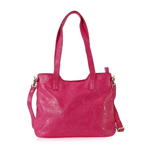 Limited Edition- 100% Genuine Leather Tote Bag with Detachable Strap and Zipper Closure (Size 32x26x