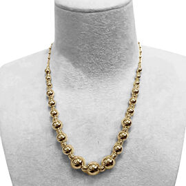 9K Yellow Gold Graduated Necklace (Size 18 with 2 inch Extender), Gold wt 13.23 Gms.