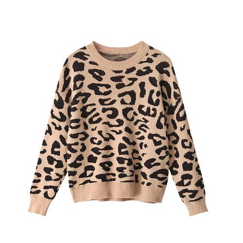 Kris Ana Animal Print Jumper One Size (8-16)- Camel