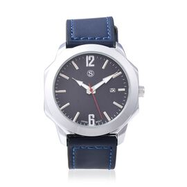 STRADA Japanese Movement Water Resistant Watch in Stainless Steel - Navy Blue