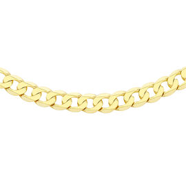 9K Yellow Gold Diamond Cut Curb Necklace (Size 24), Gold wt. 14.00 Gms