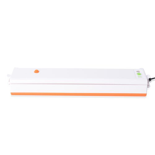 Multi-Functional Food Vacuum Sealer Machine With 2 Spare Sponges, One-touch automatic,10x Vacuum Bags With Intelligent LED Indicator Lights