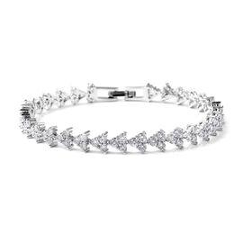 6.44 Ct White Cubic Zircon Tennis Bracelet 7.5 Inch