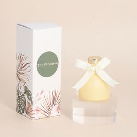 OTO - Close Out Deal - Ceramic Atmosphere French Block Fragrance Reed Diffuser - Cream Yellow
