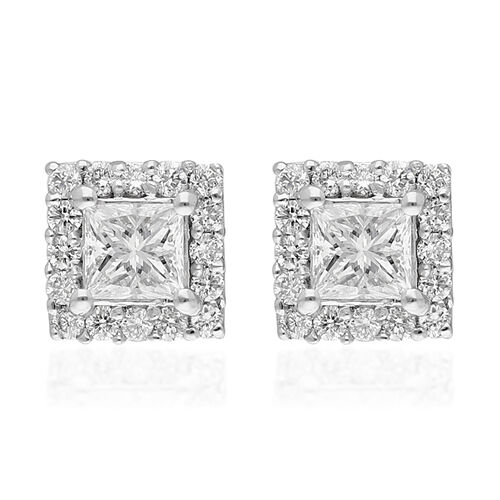 RHAPSODY 950 Platinum IGI Certified Natural Diamond (VS/E-F) Stud Earrings (with Screw Back) 0.50 Ct