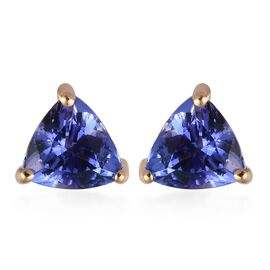 ILIANA 1.25 Ct AAA Tanzanite Solitaire Stud Earring in 18K Gold