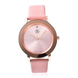 STRADA Japanese Movement Water Resistance Watch in Rose Tone with Dusty Pink Strap