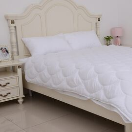 Luxury Edition - 4-Season Anti Bacterial Quilted Duvet with Hollowfibre Filling in Single Size (135x200 cm)