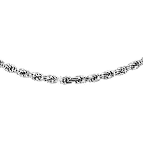 JCK Vegas Collection 9K White Gold Rope Chain (Size 22), Gold wt. 5.10 Gms.
