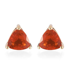 ILIANA 18K Yellow Gold AAA Jalisco Fire Opal (Trl) Earrings (with Screw Back) 1.200 Ct