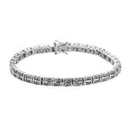 5.50 Ct Narsipatnam Alexandrite Tennis Bracelet in Platinum Plated Sterling Silver 7.5 Inch
