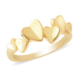 RACHEL GALLEY - Yellow Gold Overlay Sterling Silver Heart Ring