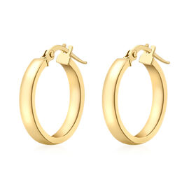 9K Yellow Gold Earrings (with Clasp), Gold wt 1.10 Gms