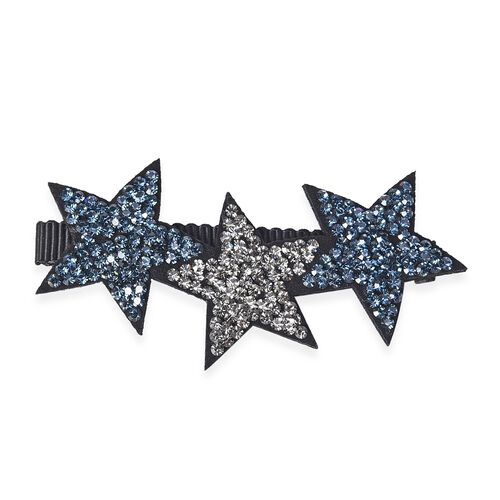 Lovely Star Duckbill Hair Clip - Blue Black and Grey