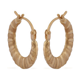 9K Yellow Gold Creole Earrings (with Clasp)