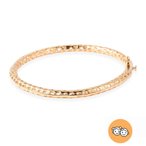 RACHEL GALLEY Yellow Gold Overlay Sterling Silver Allegro Kids Bangle (Size 6.2)