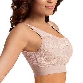 SANKOM SWITZERLAND Patent Classic Bra with Lace - Light Pink